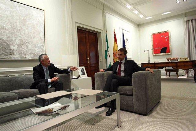 Reunión de Griñán y Zapatero en Moncloa en agosto de 2010