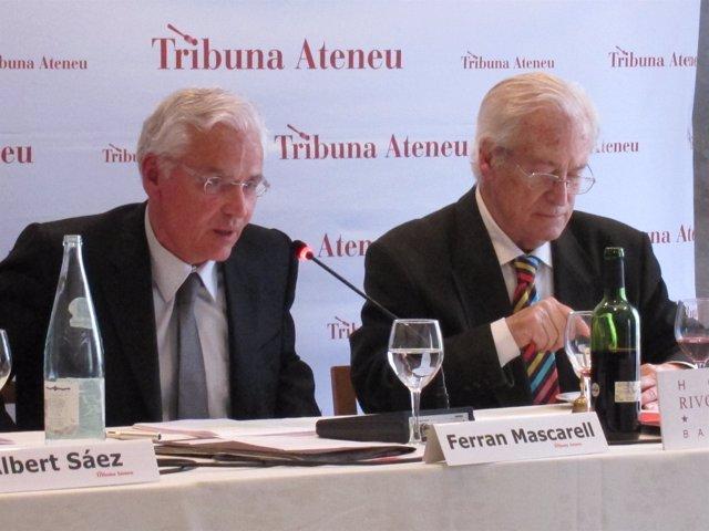 El conseller Ferran Mascarell y Oriol Bohigas