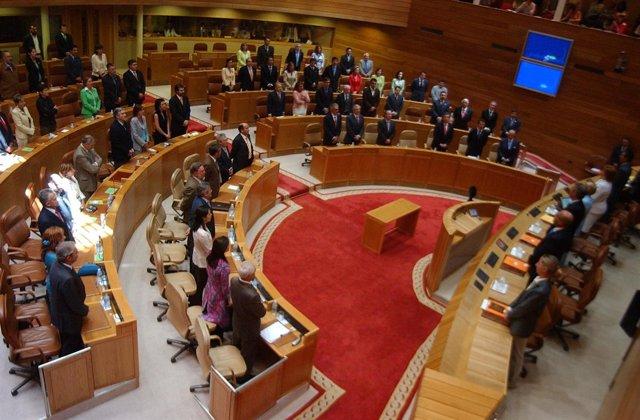 Pleno en el Parlamento de Galicia (A Coruña)