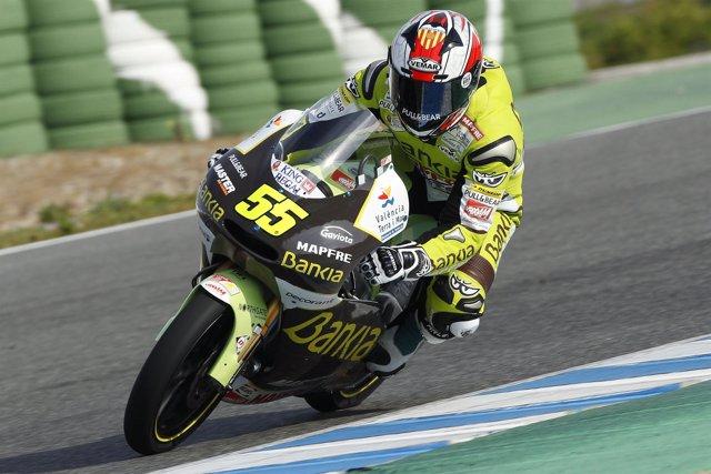El piloto del Bankia Aspar, Héctor Faubel (Aprilia)