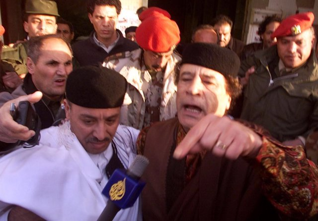 Gadaffi en Libia