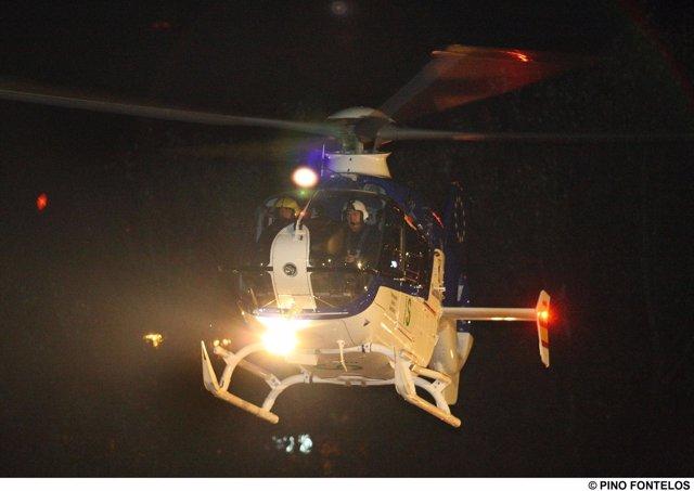Helipuerto, helicóptero, vuelo nocturno