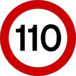 Límite a 110 kilómetros por hora