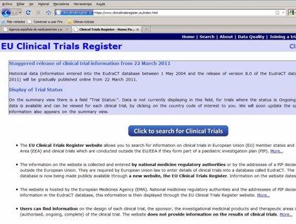 Ya está disponible el Registro Europeo de Ensayos Clínicos, gestionado por la EMA