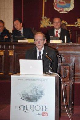 El director de la RAE, José Manuel Blecua, en el cierre de la lectura global del