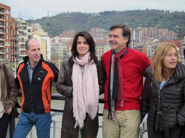 Ezenarro con el candidato a la alcaldía de Bilbao