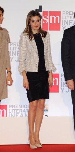 La Princesa Letizia en el acto de presentación de la editorial SM