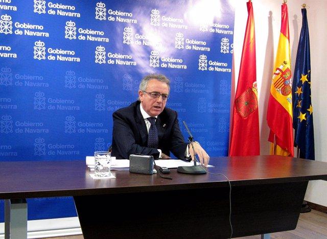 El presidente del Gobierno de Navarra, Miguel Sanz.