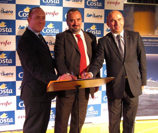 Firma de acuerdo entre Costa Cruceros y Renfe
