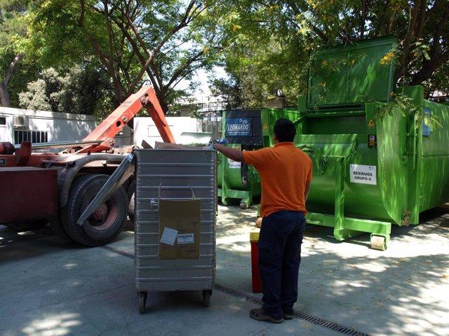 Segregación de residuos en el Hospital General