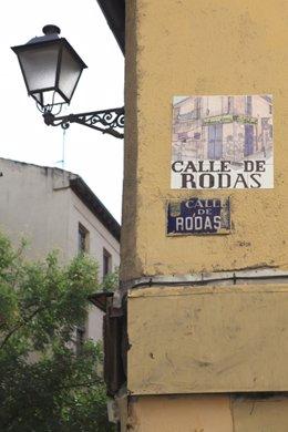 Mosaico de la calle Rodas de la artista Diana Larrea