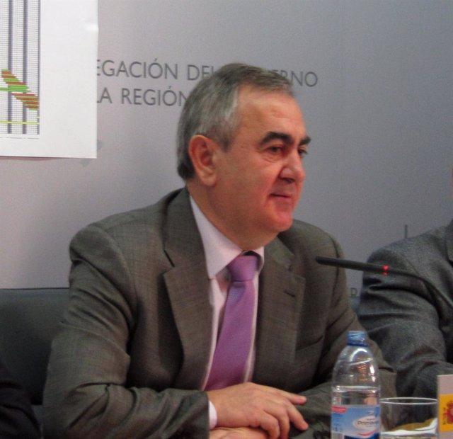 El delegado del Gobierno en la Región de Murcia, Rafael González Tovar