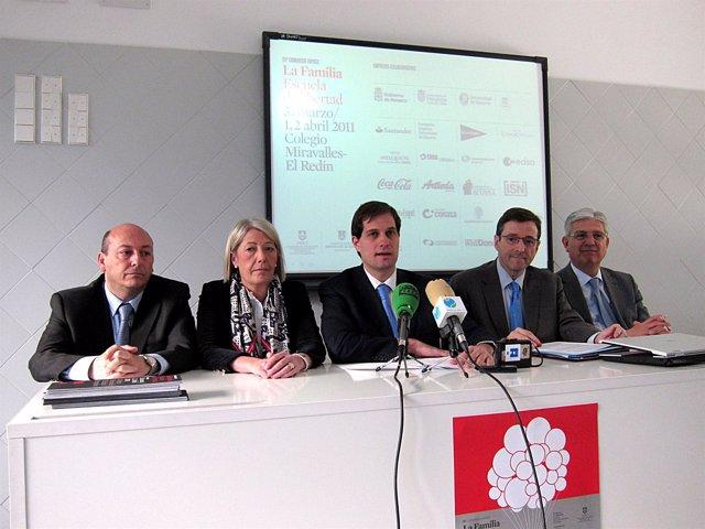 Los organizadores del 35 Congreso de Fapace en Pamplona.