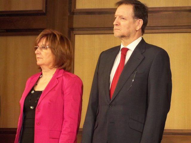 Marcelino Iglesias y María Victoria Broto