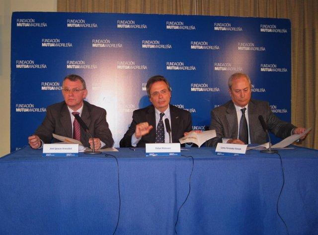 José Ignacio Aranzábal, Rafael Matesanz y Carlos Fernández Renedo.