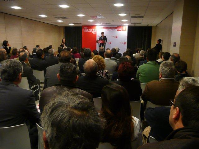 La candidata socialista a la Presidencia de la Comunidad, Begoña García Retegui
