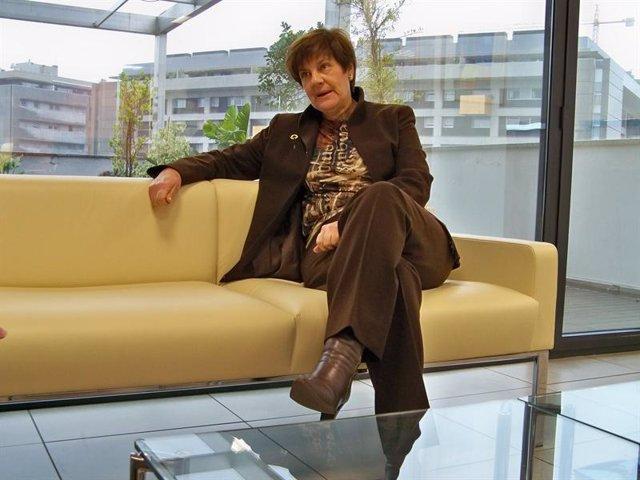 La consejera de Obras Públicas, Josefina Cruz