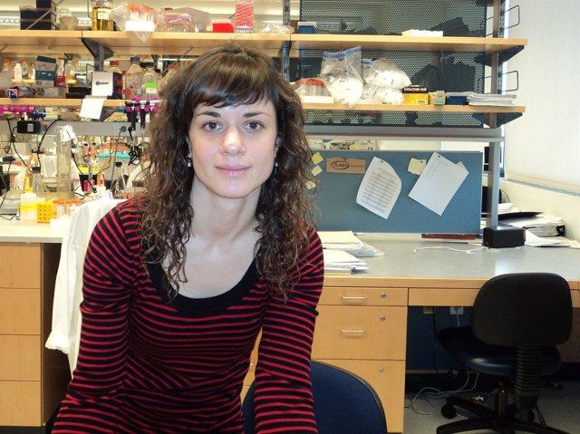 La bióloga Ainara Castellanos