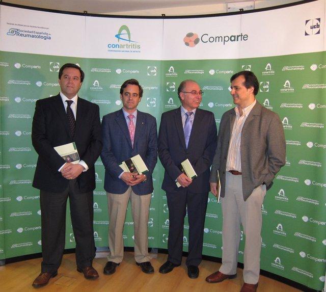 De izda a dcha: Carlos Cara, Manuel Romero, Antonio I. Torralba y Santiago Muñoz