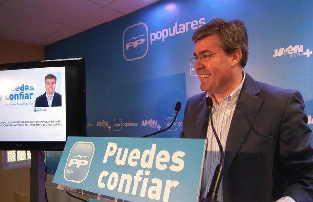 El candidato a la Alcaldía de Jaén, José Enrique Fernández de Moya