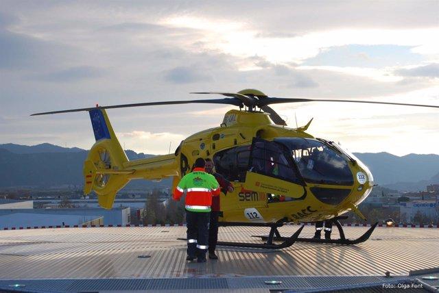 Helicóptero del Sistema de Emergencias Médicas de Catalunya (SEM)