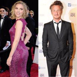 Montaje de Scarlett Johansson y Sean Penn