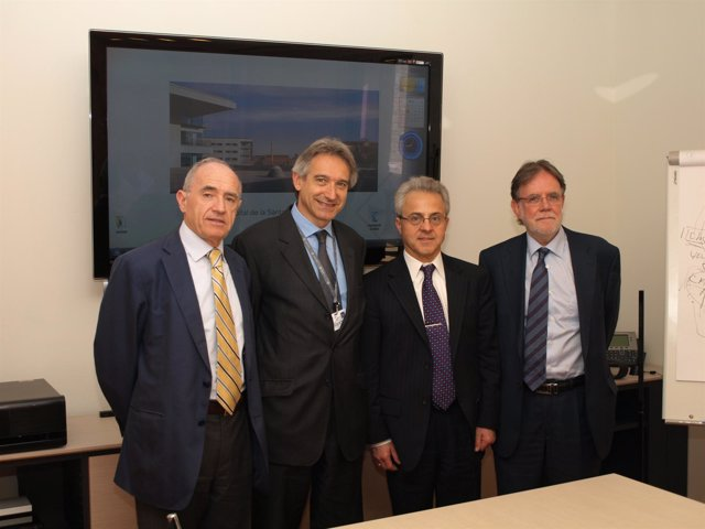 De izda a dcha: Ignacio Ayerdi, Jaume Kulisevsky, Diego Olego y Josep Lluis Sole