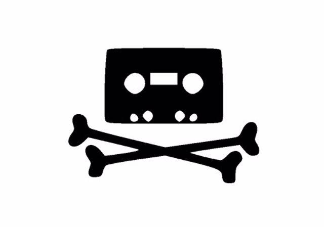 Cinta Cassette Con Forma De Calavera Piratería