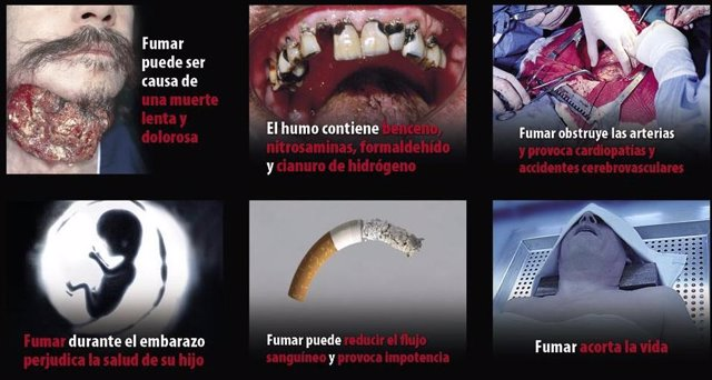 Pictogramas Paquetes De Tabaco