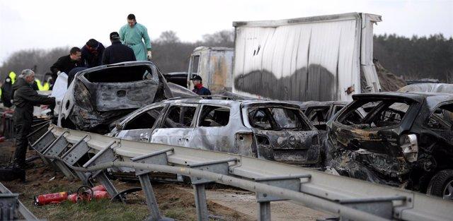 Accidente múltiple en Alemania