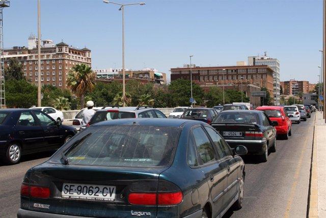 Atascos en la carretera de Sevilla