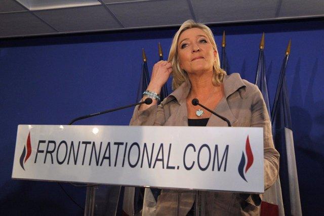 Marine Le Pen, Líder Del Partido Ultraderechista Y Xenofobo Frente Nacional
