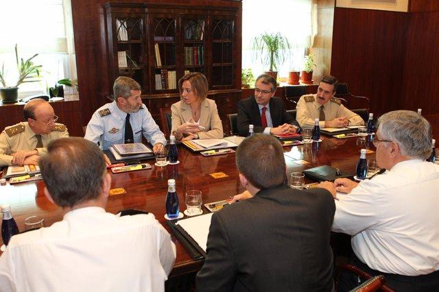 La Ministra Chacón En La Última Reunión Sobre Libia Con Mandos Militares