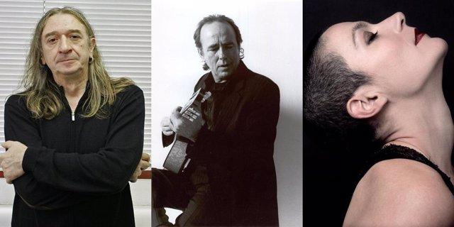 Los Tres Triunfadores De Los XV Premios De La Música: Rosendo, Serrat Y La Shica