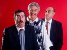 Josema Yuste, Felisuco y Agustín Jiménez en La cena de los idiotas