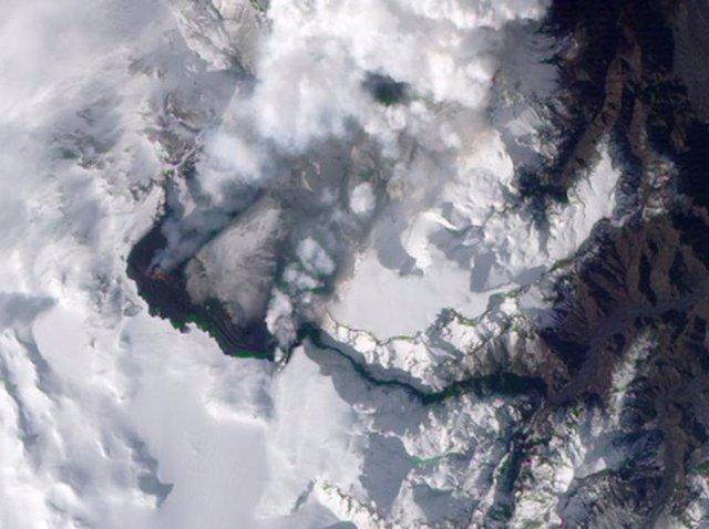 Volcán Eyjafjallajokull en Islandia