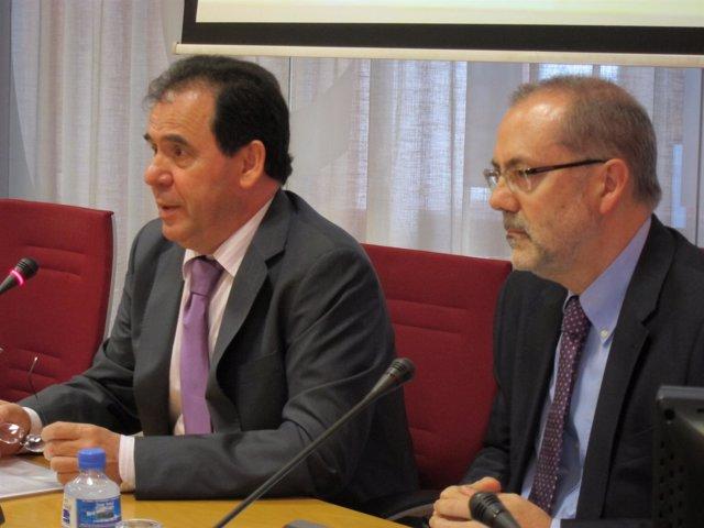 Josep Maria Rañé (Ctesc) Y El Secretario De Economía Y Finanzas De La Generalita
