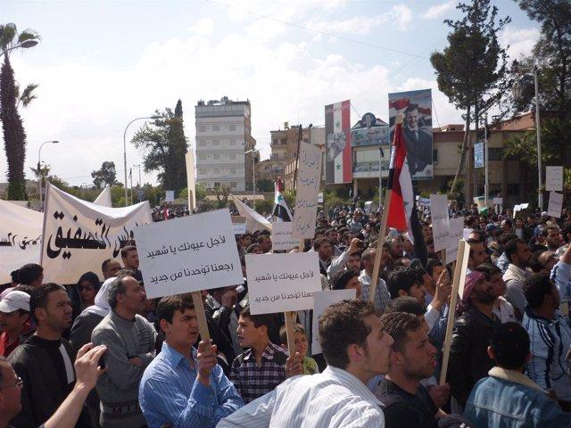 Protestas En Siria