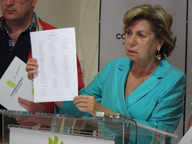 La Presidenta De Compromiso Por Gran Canaria, Nardy Barrios
