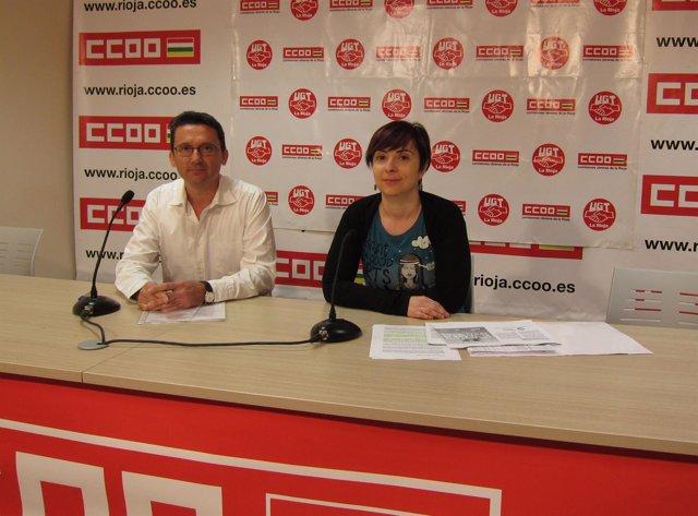 Juan Pedro López Y Cristina Antoñanzas, De CC.OO. Y UGT