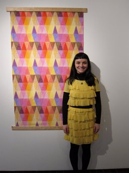 Ana Montiel, Artista, Junto A Su Obra