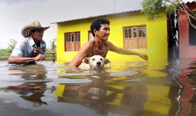 Fuertes lluvias en Colombia
