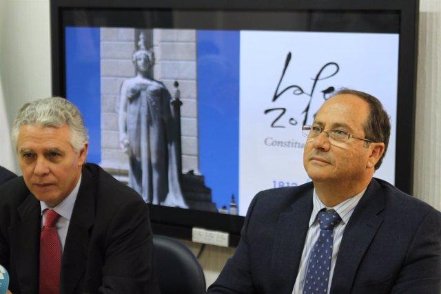 Menacho Con El Nuevo Gerente Del Consorcio Del Bicentenario, Emilio Aragón