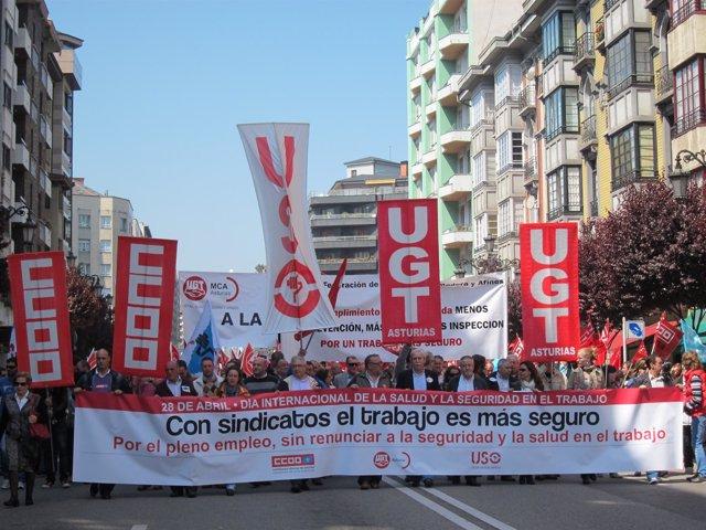 Movilización Por El Día Internacional De La Salud Y Seguridad En El Trabajo.