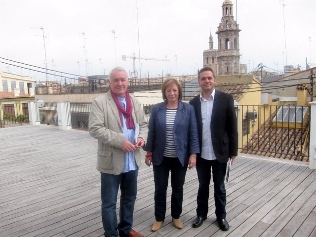 Cayo Lara, Marga Sanz Y Amadeu Sanchis