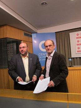 Julián Lóriz (UGT Aragón) Y Pablo Castillo (Secretario Organización CC.OO. Ara)