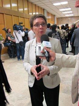 La Consejera De Hacienda, Carmen Martínez Aguayo, antes del CPFF en Madrid