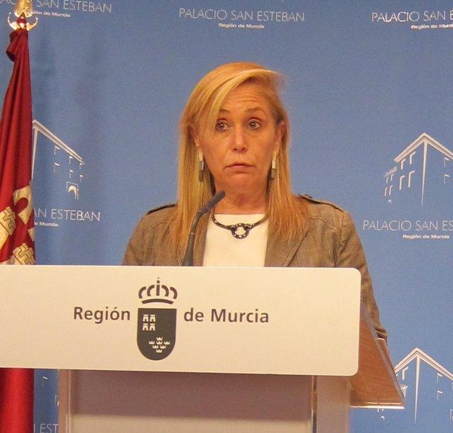 La portavoz del Gobierno regional, María Pedro Reverte