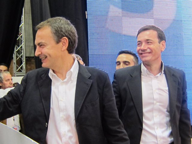 Zapatero y Tomás Gómez en Alcalá de Henares