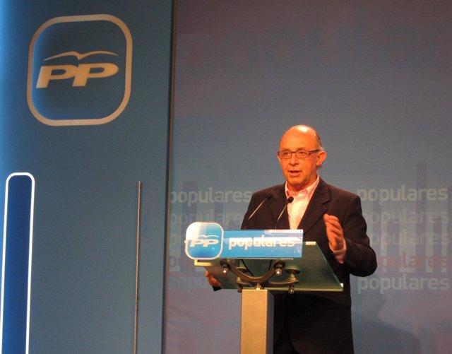 Coordinador De Economía Del Partido Popular, Cristóbal Montoro